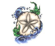 ... tattoos , sand dollar tattoos , ocean tattoos , seashell tattoos