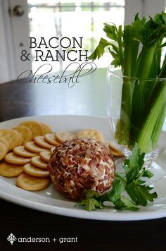 Bacon and Ranch Cheese Ball. This is DELICIOUS!! Seriously...if you like cheese and bacon (and really who doesn't?)...you need this in your life!