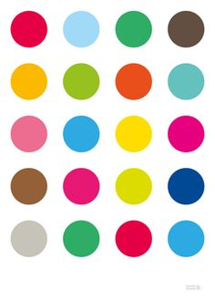 multi coloured dots
