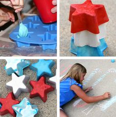 holiday, craft, fourth of july, driveway, decorating ideas