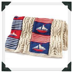 Sailboat Knitting Pattern Baby Blanket : Knitting patterns on Pinterest Donna Wilson, Nautical ...