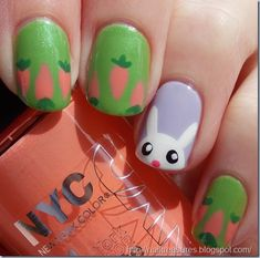 15 Adorable Easter Nail Designs With Bunnies - Fashion Diva Design #womnly.com #womnly #Top_hairstyles #hairstyles_Ideas #top_hairstyles #best_hairstyles