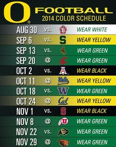 Time to plan your football season wardrobe #GoDucks