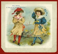 Victorian Advertising Trade Card The White Is King of All Sewing Machines
