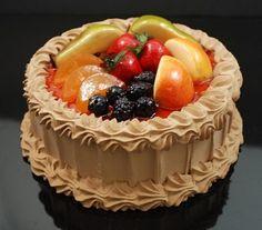 Fake Food Chocolate Fruit Top Cake