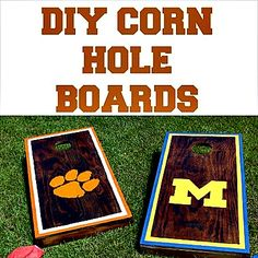 How to Make Homemade Cornhole Boards (tutorial)