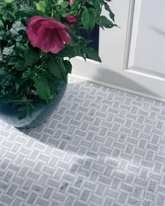 marble basketweave tile