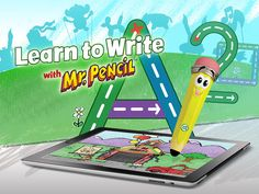 Learn to Write with Mr. Pencil HD ($0.00) use your Pencil-tastic writing and drawing skills and get stroke-by-stroke guidance while writing letters, numbers and shapes, as well as instant feedback. New animations, sounds and special decorations come to life as each activity is completed. In Try Me mode, complete writing and drawing activities in four fun town locations. When you purchase the Mr. Pencil Stylus, you can unlock all 24 unique locations.
