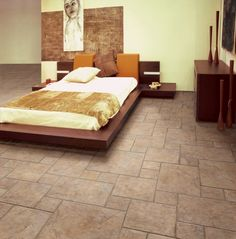 tile floors for the bedroom!
