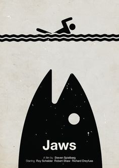 A guy name Viktor Hertz has done a series of pictogram movie posters. Jaws is my favorite one.