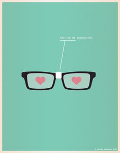 Nerds in love. Too cute!
