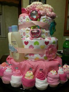 Diaper cake Anna made
