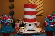 Cake at a Dr. Seuss Party #drseuss #party