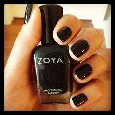 I love a dark nail. Zoya Nail Polish in Cynthia.