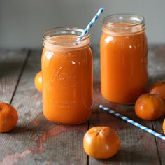 My Kids' Favorite Morning Juice by clawsonlive: Carrots, apples, oranges, and pineapple are how we start the morning off!  Delicious! #Juice #Healthy #Kids