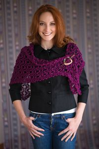 Sonoma Shawl - from the Fall 2014 Issue of Love of Crochet magazine  The puff stitches and rich color of this shawl will have you dreaming of breathtaking vineyards. Triangular shaping allows you to wear it in multiple ways, and soft superwash wool makes it as luxurious as a weekend at an elegant winery.