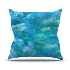 "Rosie Brown ""Ocean Waters"" Blue Aqua Outdoor Throw Pillow   KESS InHouse  #pillow #throwpillow #art #homedecor #ocean #sea #nature #tropical #kessinhouse"