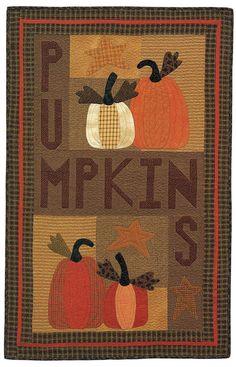 Pumpkins wall quilt by Avis Shirer and Tammy Johnson
