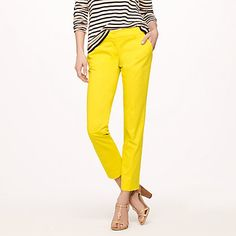 JCrew Coloful Cropped Pants- Must Have Additions (aside from our Khaki,White & Black) - Yellow, Coral and Green...