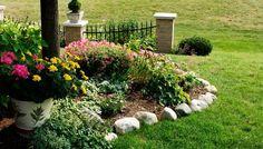 Landscaping Basics --- www.ehow.com/ehow_home-landscaping-basics/ plant, landscap idea, neat websit, outdoor, garden edging, rock, flower beds, backyard, yards
