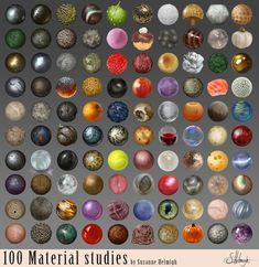 Material studies by Suzanne-Helmigh on @deviantART