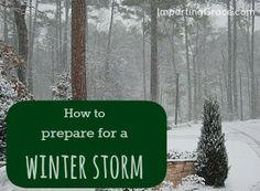 Steps to prepare for a winter storm | ImpartingGrace.com