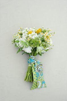 Vera Bradley bouquet sash