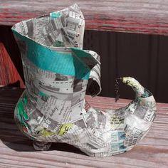 paper mache boot