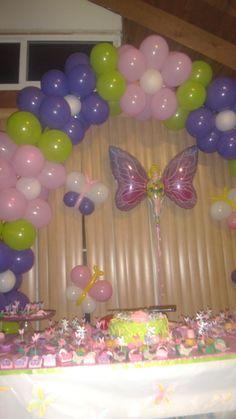 Flower Balloon Arch Decoration #flower #balloon