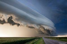 A amazing storm cloud formation seen in Nebraska.