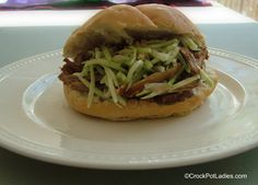 Crock-Pot Ladies Crock-Pot Sesame Pulled Pork Sandwich with Asian Slaw