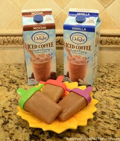 Cool off this Summer with Iced Coffee Popsicles! via Between Naps on the Porch