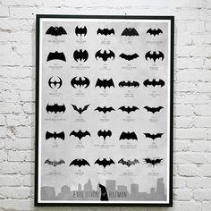 (13) Fancy - Batman Logo Evolution Poster