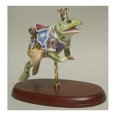 "Carousel Statues:  Lenox ""The Carousel Prince"" Frog Figurine"