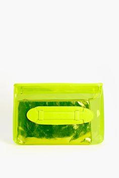 Neon Yellow Summer Clutch ☻                                                                                                                                                                  ⇜•ṄεΦЙ❉€яᗛƶΣ•⇝