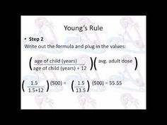 PTCB Math Review: Pediatric Doses: Youngs Rule - YouTube