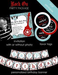 Rock star party idea