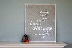 Hope Whispers 8x10 Original Print grey by hairbrainedschemes, $15.00