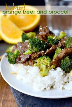 Lighter Orange Beef and Broccoli is much healthier than the deep-fried restaurant version. This stir fry is light, healthy, and filling! #glutenfree | iowagirleats.com