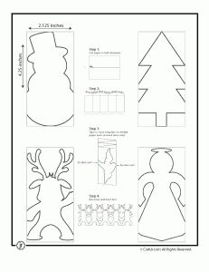 Christmas paper chain template - the tree and snowman were easiest for the kids and they loved this