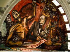 Mural en el Palacio de Gobierno de Guadalajara, Jal. José C. Orozco