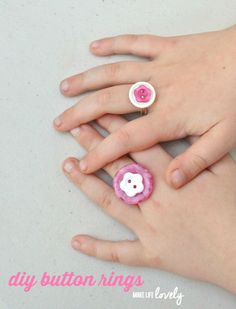 Button Rings DIY - M