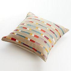 colorful stripe pillow