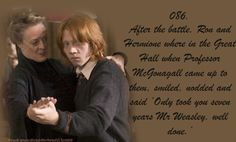 Well done Mr.Weasley!  Gotta love Harrys best friend! The magic would not have been the same without him.