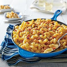 Smoky cubes of brined city ham and salty bits of country ham give this main-course mac its name and savory appeal.
