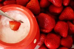 Strawberry Yogurt Dip Recipe with Cool Whip & Orange Zest