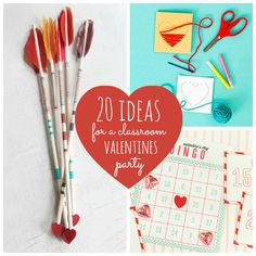 20 Ideas for a Classroom Valentines party valentine crafts, valentin craft, diy crafts, arrow, valentin parti, multiplication games, craft ideas, kid crafts