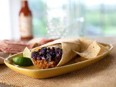 Bean, Cauliflower and Cheese Burritos Recipe : Marcela Valladolid : Food Network - FoodNetwork.com-ill use fake chorizo!!