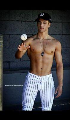 Thank god for baseball... And baseball pants... Aaaand shirtless men. Amen.