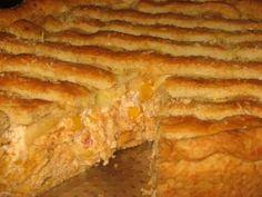 Receita de Torta de frango com cream cheese e milho - Tudo Gostoso